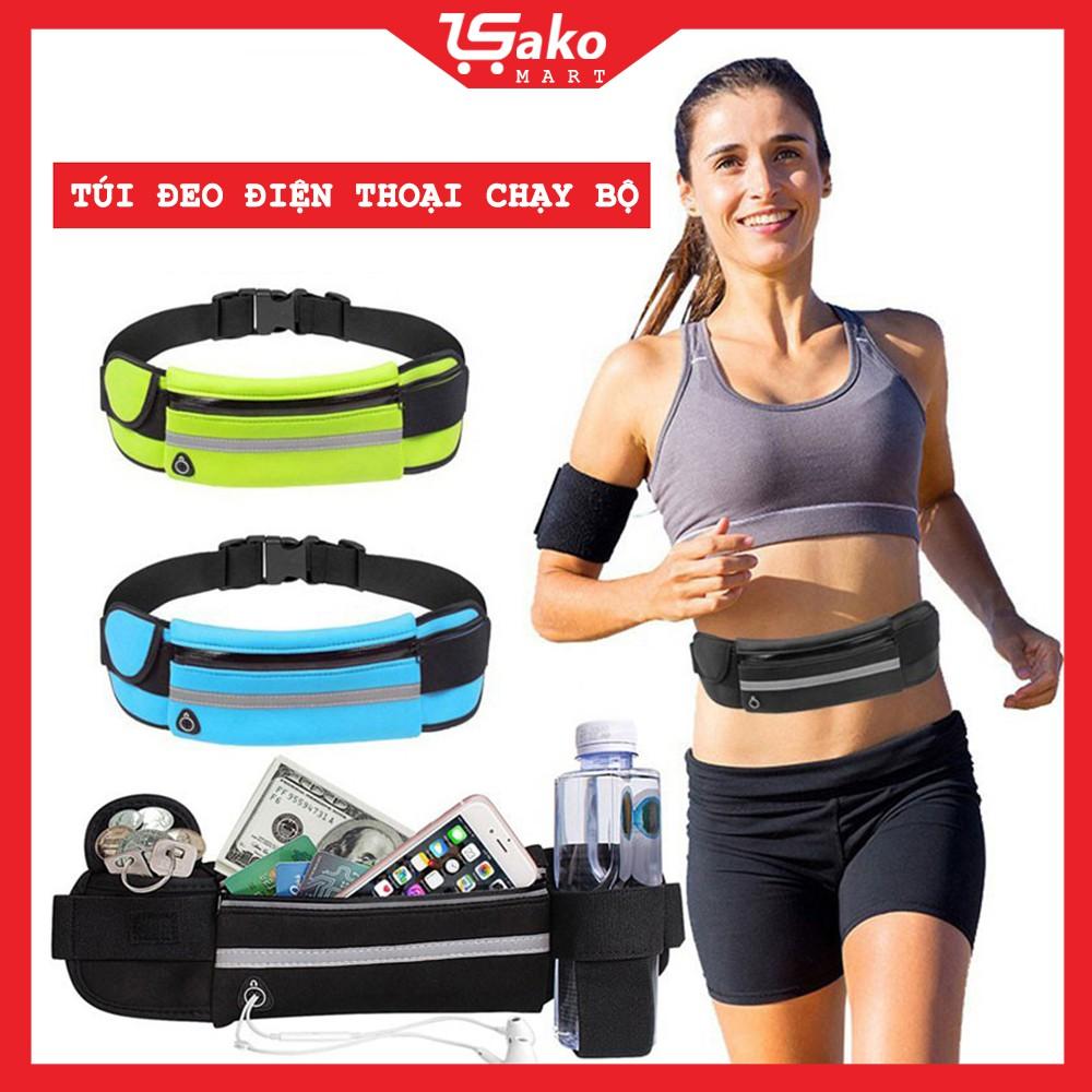 Túi đeo chạy bộ chống nước, túi chạy bộ đeo hông, đai đeo chạy bộ đựng điện thoại SAKOMART