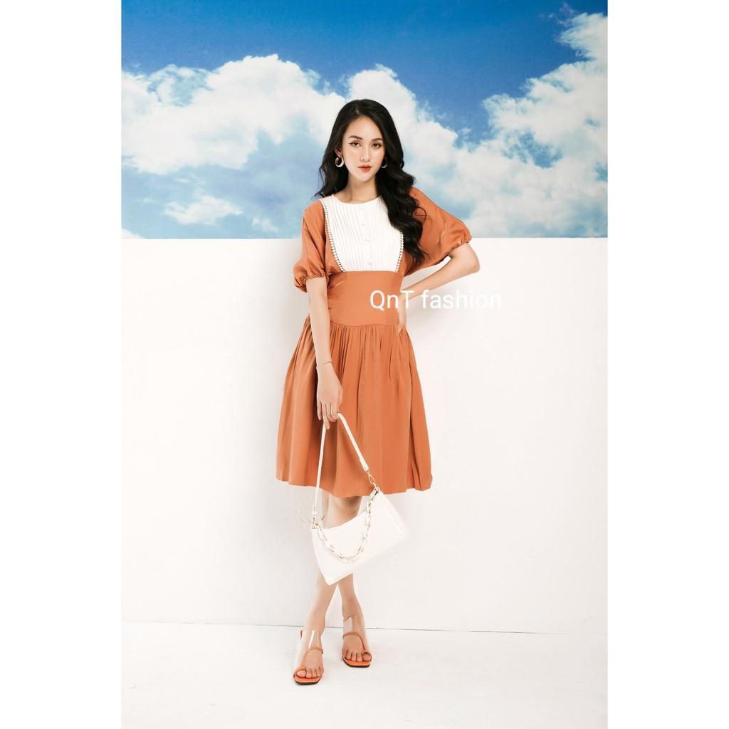 Váy Liền Chữ A Pastel-Đầm Công Sở Cao Cấp Đươc May Tỉ Mỉ Từng Đường Kim,Phong Cách Sang Trọng