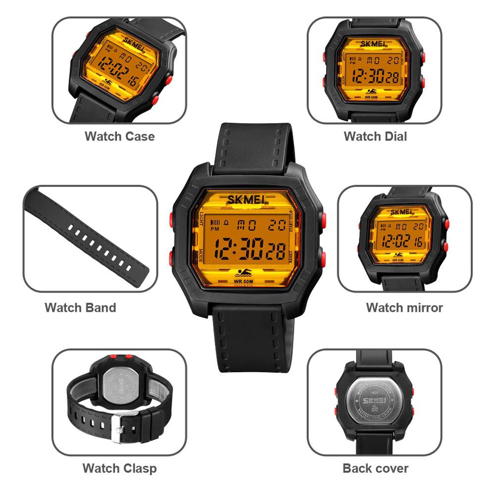 Đồng hồ điện tử SKMEI 1623 chống thấm nước phong cách thể thao thời trang cho nam và nữ