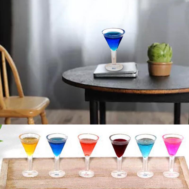 Set 6 Ly Rượu Mini Tỉ Lệ 1: 12 Trang Trí Nhà Búp Bê