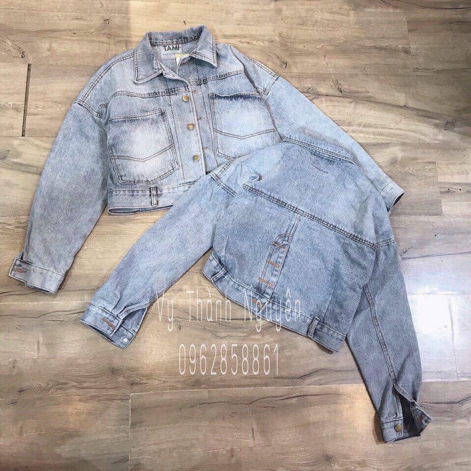 áo khoác jean nữ HÌNH THẬT 5 cúc sau lưng 8762