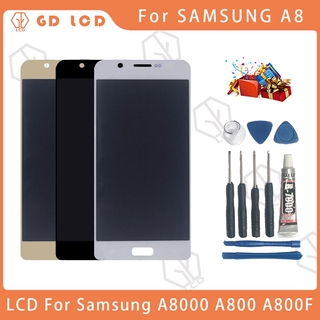 For SAMSUNG Galaxy A8 2015 LCD Display Touch Screen For Samsung A8000 A800 A800F Display Screen LCD Digitizer