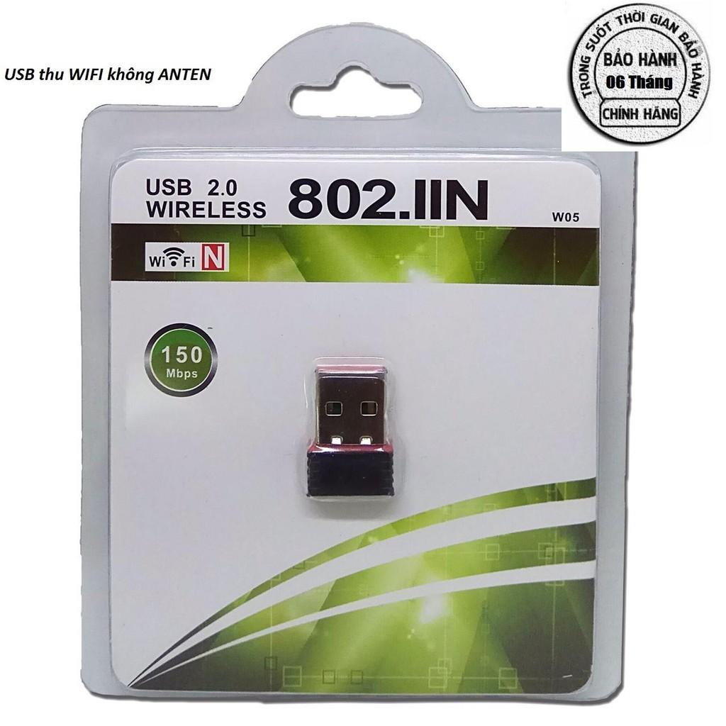 USB thu wifi không anten nhỏ gọn Giá chỉ 79.000₫