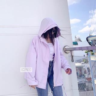 Áo khoác Milina chống nước màu tím nhạt HÌNH TỰ CHỤP