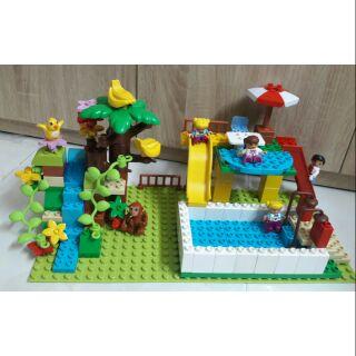 Bộ lego lắp ráp thác nước non bộ và hồ bơi tương thích lego duplo thumbnail