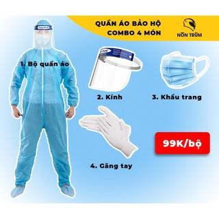 Đồ bảo hộ y tế bảo vệ bạn kháng khuẩn, khẩu trang y tế, kính chống giọt bắn sản phẩm phân phối bởi hệ thống Nón Trùm thumbnail