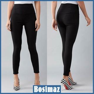 Quần Legging Nữ Bosimaz MS211 dài túi sau màu đen cao cấp, thun co giãn 4 chiều, vải đẹp dày, thoáng mát không xù lông. thumbnail
