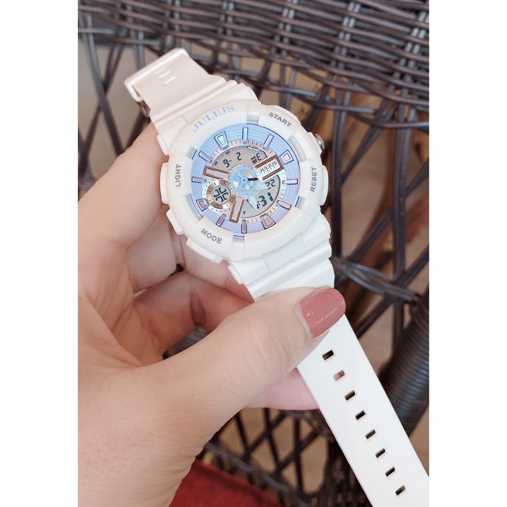 Đồng hồ Unisex JULIUS JA-1276B dây nhựa dáng thể thao
