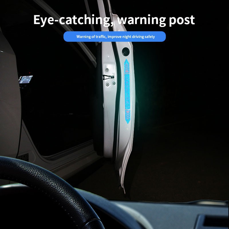 Bộ 4 hình dán Kevanly cảnh báo khi mở cửa xe hơi