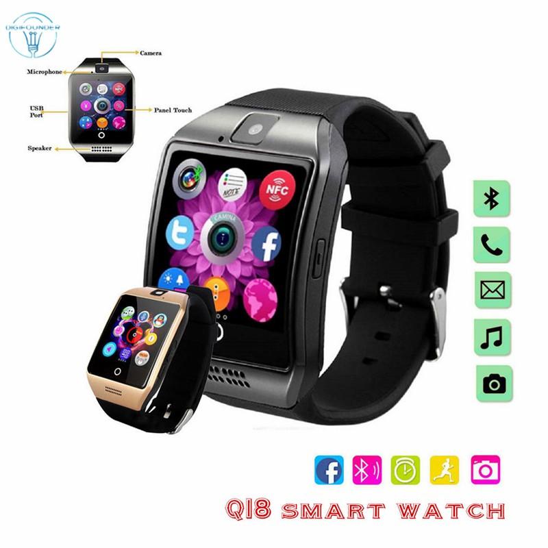 Đồng Hồ Thông Minh Dg Q18 Kết Nối Bluetooth Hỗ Trợ Thẻ Sim Tf Cho Ios Android