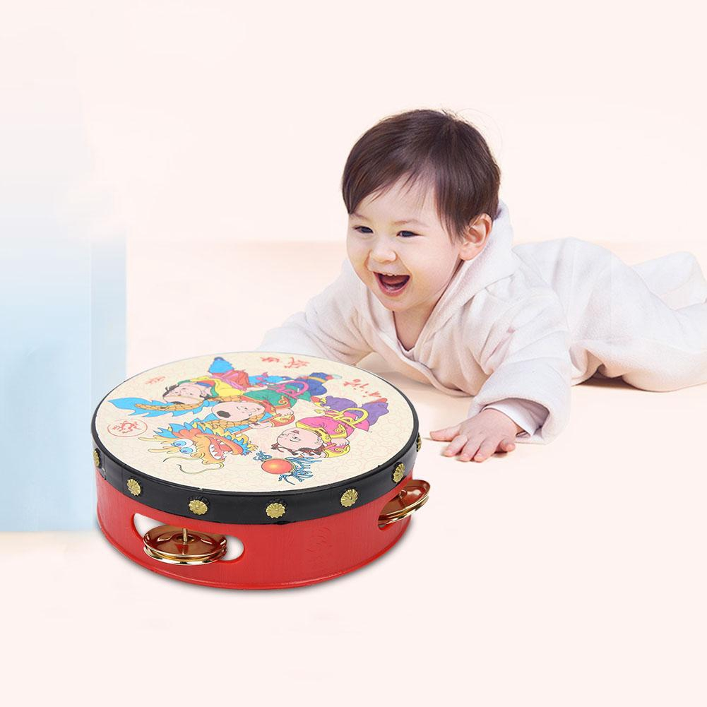 Baby Toys Handbell Musical Kid Cartoon Classic Educational Drums Rattle Instrument