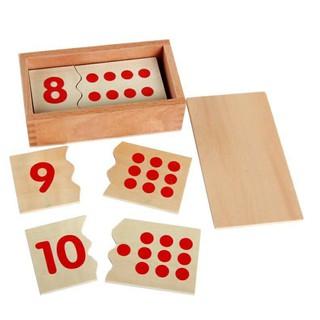 Ghép số và dot toán montessori