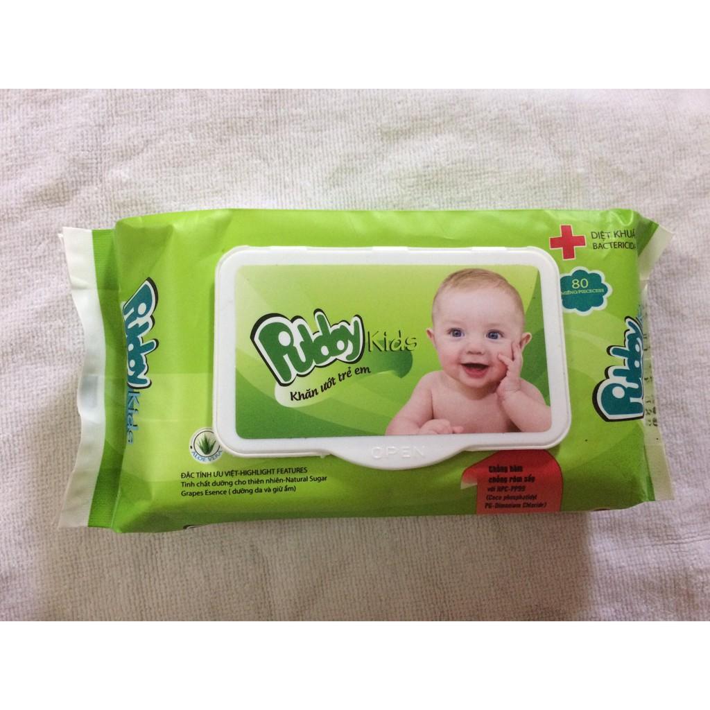 ( Mua từ 2sp, 8k/sp) Khăn ướt trẻ em Puldoy 80 tờ cho bé