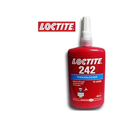 Keo khóa ren Loctite 242, khóa bulong, đai ốc tác dụng tốt cho tất cả các loại ren kim loại, chai 50ml