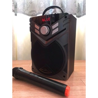Tặng mic không dây bắt sóng xa khi mua loa Kiomic K56 (K-56) chính hãng. BH 12 tháng. Loa nâng cấp từ bản P-88