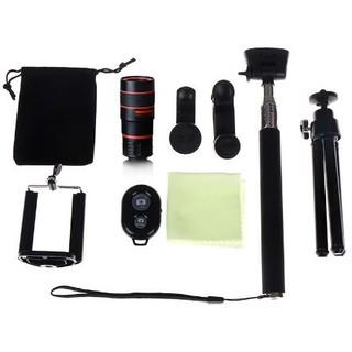 [HCM] – Ống kính ĐT chụp xa 8x | chụp cận Macro | Wide + Angle | Fisheye kèm chân 3 càng tripod | Cây Selfie | Bluetooth