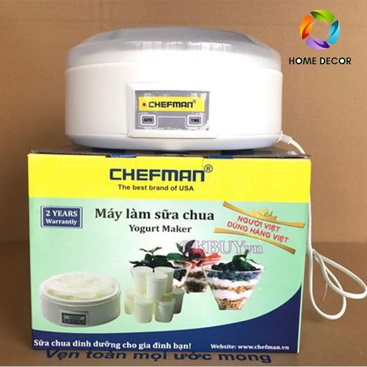 Máy làm sữa chua 8 cốc thủy tinh Chefman CM-302 cao cấp CHÍNH HÃNG-HOME DECOR