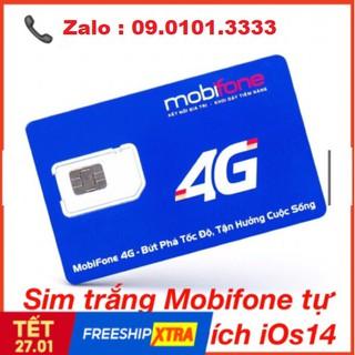 Phôi sim tự thay 4G Mobifone không nóng máy IOS 14