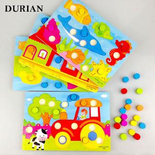 Match Jigsaw Board Color Children Toy Educational Puzzle Wooden Beautiful