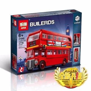 Lepin mã 21045 Xe buýt 2 tầng Luân Đôn – Đồ chơi lắp ráp, xếp hình thông minh