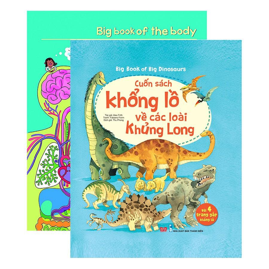 Combo Bộ Sách Khổng Lồ Về Cơ Thể Người Và Các Loài Khủng Long