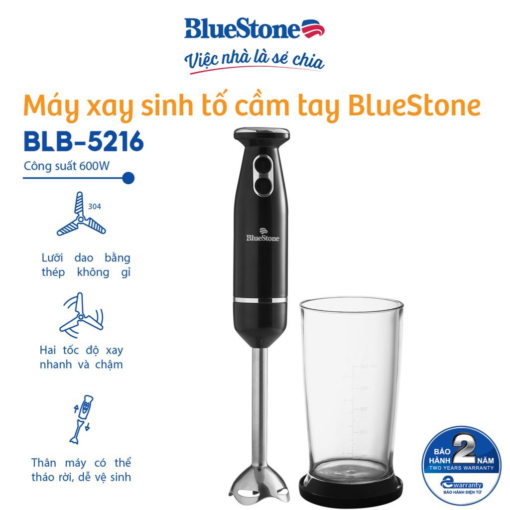 [Mã ELBLUE10 giảm 5% đơn 500k] Máy xay sinh tố cầm tay BlueStone BLB-5216 - Bảo hành 24 tháng - Hàng Chính Hãng