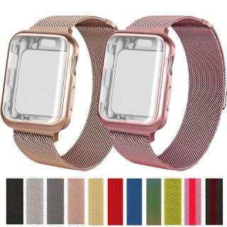 【Apple Watch Strap】Milanese Stainless Steel strap + Full Cover TPU case For Apple Watch Series 6 se 5 4 3 2 1 38mm 40mm 42mm 44mm