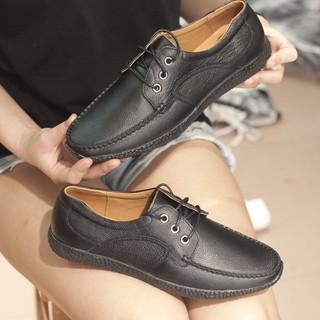 Giày lười buộc dây L452 màu đen lẻ size 41,42 xả 199k