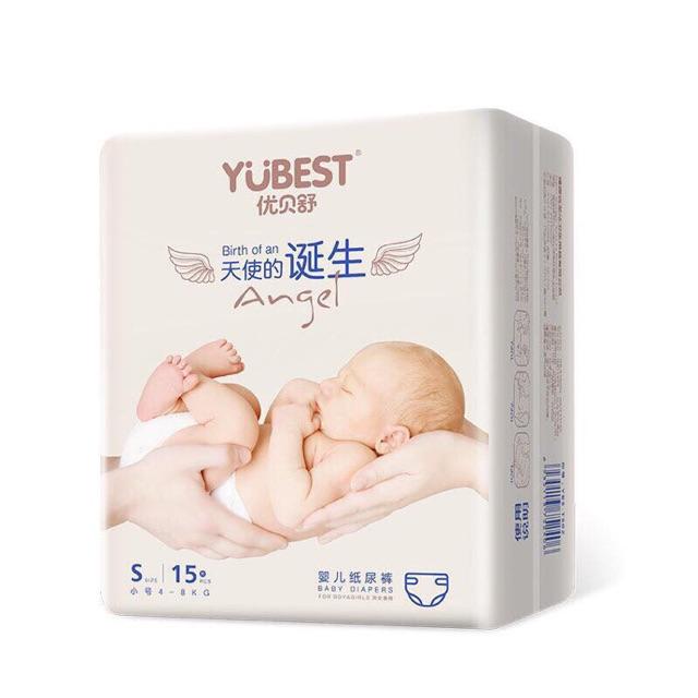 Bỉm Yubest Angel dán/quần nội địa Trung đủ size S90/M84/L78/XL72/XXL66