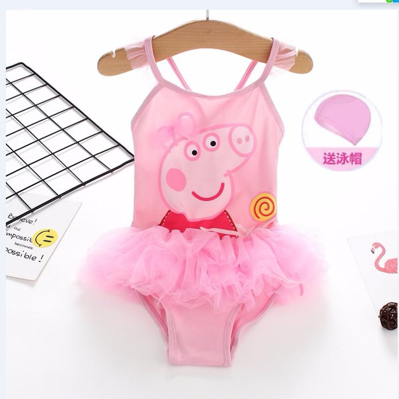 Bộ bikini 1 mảnh dạng váy dễ thương cho bé gái