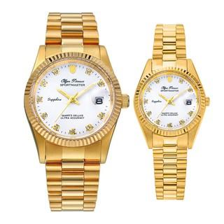 Đồng hồ đôi nam nữ dây kim loại Olym Pianus OP89322 MK OP68322 LK mặt trắng thumbnail