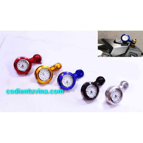 Đồng hồ gắn chân kính chiếu hậu mini