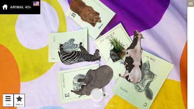 Thẻ animal 4D (Chất liệu thẻ bằng bìa A4)
