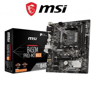Bo mạch chủ Mainboard MSI B450M PRO-M2 MAX AMD B450, Socket AM4, m-ATX, 2 khe RAM DDR4
