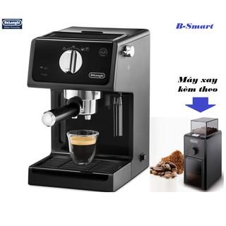 [Mã ELMALL1TR5 giảm 6% đơn 3TR] Máy pha cà phê Espresso Cappuccino DeLonghi ECP31.21 + Máy xay KG79