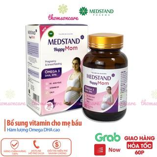 Vitamin bầu Medstand Happy mom, bổ tổng hợp cho mẹ mang thai và sau sinh, cho con bú chứa Omega DHA sắt canxi thumbnail