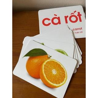 Bộ thẻ học thông minh giáo dục sớm cho bé từ 0-3 tuổi loại to 15x21cm với 14 chủ đề khác nhau, thiết kế 2 mặt