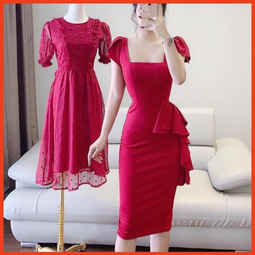 3124311207 - [HOT] Váy body cổ vuông nữ hoàng V1159 đầm dự tiệc,công sở chất liệu cao cấp Mie Design kèm ảnh thật
