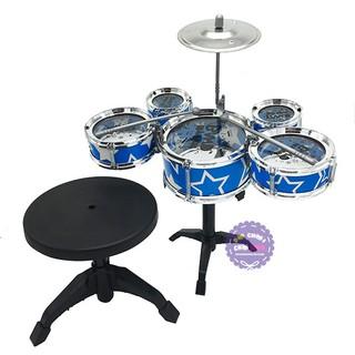 [FREESHIP TỪ 99K]Hộp đồ chơi bộ trống Jazz Drum 5 cái kèm ghế ngồi