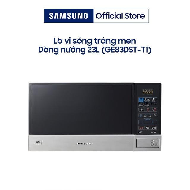 Lò Vi Sóng Tráng Men Có Nướng Samsung GE83DST-T1 (23 lít) – Đen - Hàng Chính Hãng