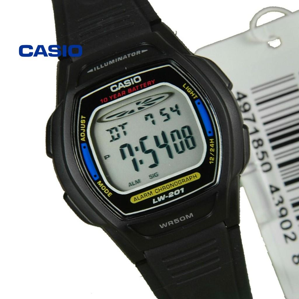Đồng hồ nữ Casio LW-201-2AVDF (xanh) chính hãng - Bảo hành 1 năm, Thay pin miễn phí