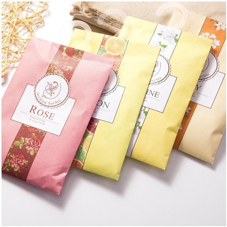 Túi thơm treo phòng treo tủ quần áo vỏ nhiều màu (TTM02)