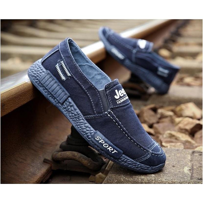 Giày lười demin thời trang ZAVANS
