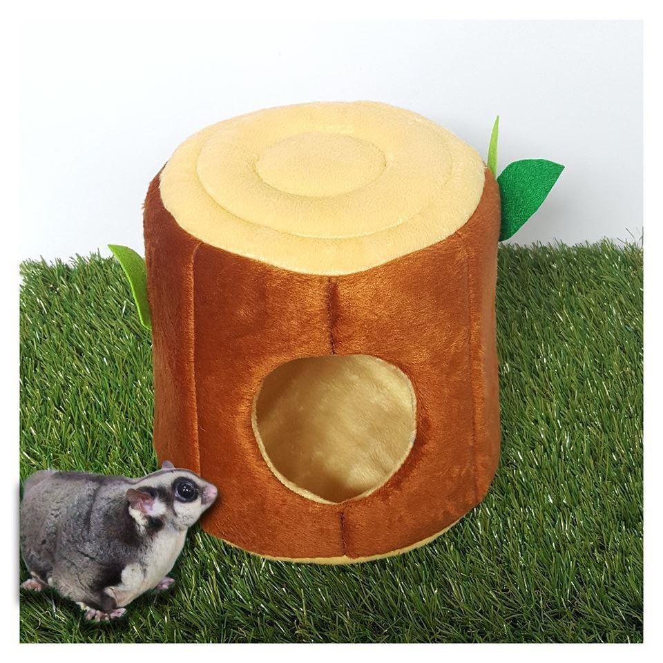 สีน้ำตาลเข้ม - KPS Timber Wood โดมนอนทรงขอนไม้ ของเล่น ชูการ์ไกลเดอร์ กระต่าย แพรี่ด็อก (น้ำตาลเข้ม, น้ำตาลอ่อน)