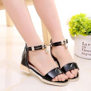 [ mã THUYFSKI9 giảm 10k đơn hàng 100k]Dép sandal bé gái da mềm, êm chân, phong cách Hàn Quốc AE8, size to 30-37, hàng ca