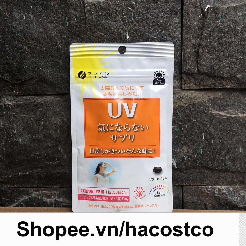 Viên Uống UV Care Plus hỗ trợ chống Nắng Fine Japan Nhật Bản túi 30 viên
