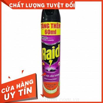 Bình xịt côn trùng Raid chai 600ml