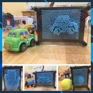Bộ tạo hình 3D thông minh Bảng Pin art Montessori, đồ chơi Pinart 3D, khắc chữ, in dấu vân tay thumbnail