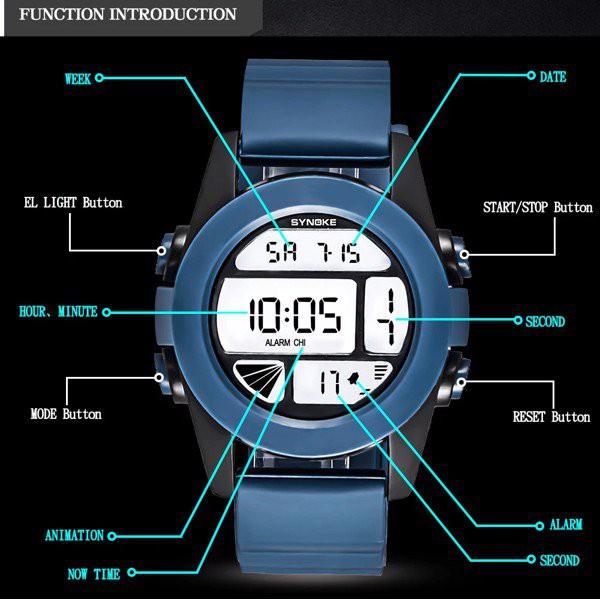 Đồng hồ trẻ em Synoke 67286 dây cao su (Màu Tím)