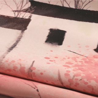 Rèm phòng tắm chất liệu polyester dày dặn chống thấm nước in họa tiết phong cảnh 160g / m2 - hình 4